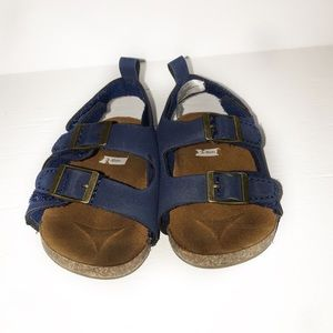 Infant Navy Leather Sandals